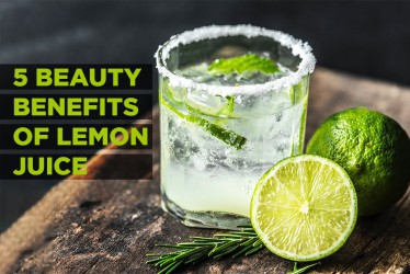 5  Beauty Benefits Of Lemon Juice